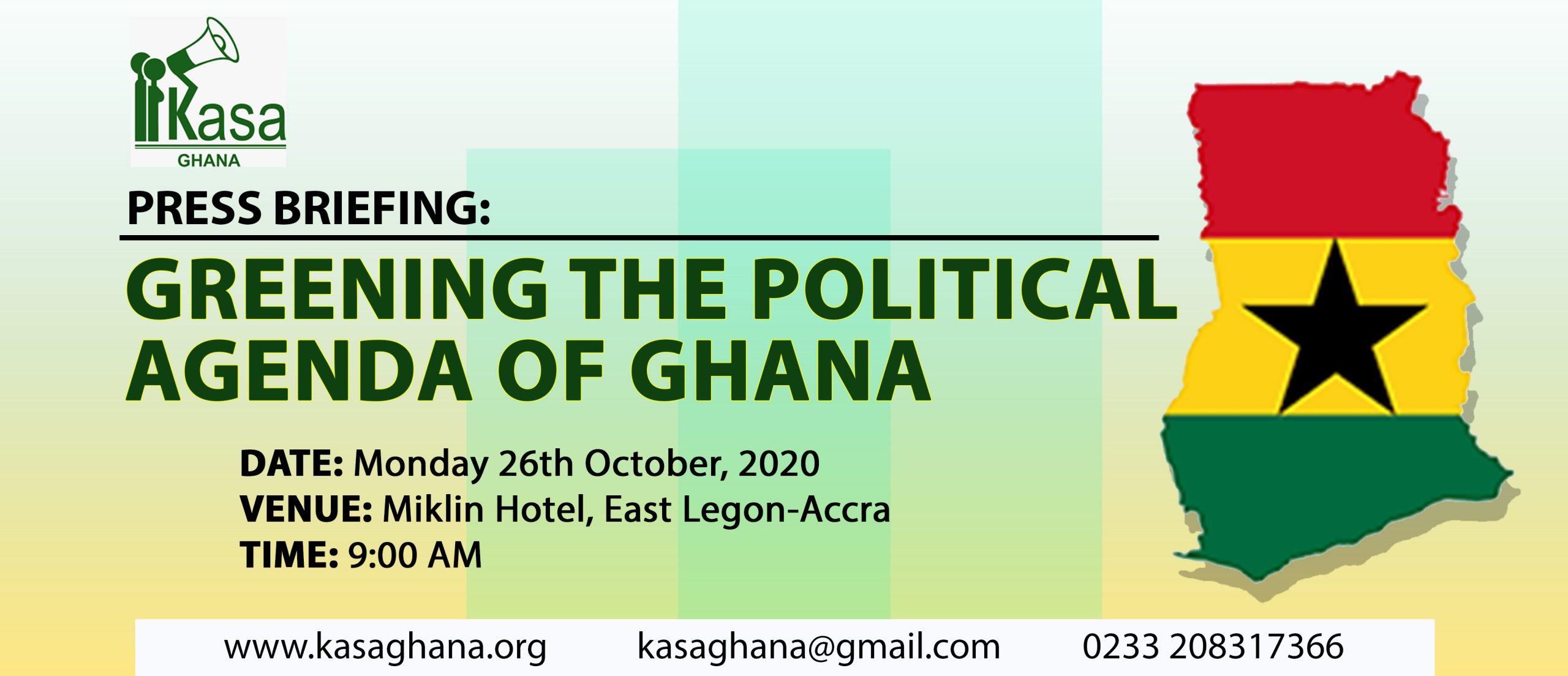 Greening the political agenda of Ghana